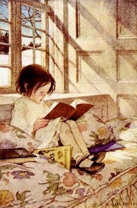 Books in Winter Jessie Wilcox Smith
